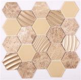 Tegel van de Muur van het Mozaïek van het Glas van het Bouwmateriaal Hexagon