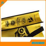 Bolso de totalizador no tejido de seda de la tela de la impresión de la pantalla con insignia modificada para requisitos particulares