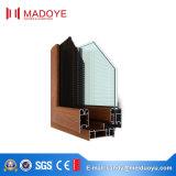 Finestra di alluminio rivestita della stoffa per tendine della polvere di Madoye con vetro fisso