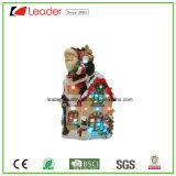 Regalos de Navidad de Santa magnesio Casa estatua con luz LED para la decoración del hogar