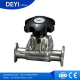 Acero inoxidable higiénico SS316L two-pass Válvula de diafragma
