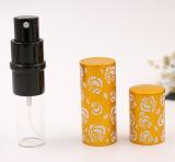 Frasco de alumínio do cosmético do frasco do pulverizador de perfume do teste padrão