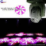 LED Gobo 효력 15r Sharpy 330W 광속 반점 이동하는 맨 위 빛