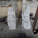중국 백색 묘지를 위한 대리석 기도 여자 동상