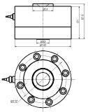 Type bon marché de rai capteur de pression de piézoélectrique pour l'échelle Qh-61c de camion