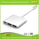 C do USB 3.1 ao adaptador do cubo de HDMI+USB 3.0+Type C