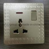 Socket BRITÁNICO del estándar 15A con 1 interruptor de la cuadrilla
