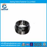 Piezas no estándar plateadas cinc del torno del anillo del negro de la pieza del torno del CNC