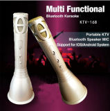 Bewegliches Karaoke-Mikrofon drahtloser Bluetooth Lautsprecher KTV-168