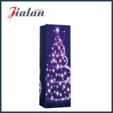 Preiswerter 4c gedruckter Weihnachtswein-Flaschen-Einkaufen-Geschenk-Papierbeutel