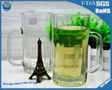 500ml de hoge Transparante Loodvrije Mok van het Bier van het Glas met Handvatten