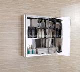 La mejor cabina del espejo del cuarto de baño del acero inoxidable de la venta con los estantes dobles