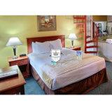 Meubles simples de chambre à coucher d'hôtel de modèle moderne avec le bâti en bois solide