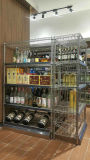 Hochwertiger 5 Reihe-Chrom-Metallwein-Bildschirmanzeige-Zahnstangen-Hersteller