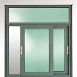 ألومنيوم نافذة سكنيّة مع كوّة تهوية في غير قابل للكسر زجاجيّة مربّعة عدّاد سعر