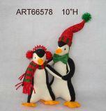 """Familia del pingüino de H del regalo 10 de la decoración de la Navidad """""""