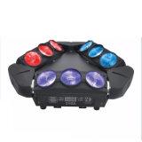 단계 디스코 당 9PCS RGBW LED 거미 이동하는 맨 위 광속 빛