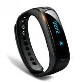 2016 relógio do bracelete do podómetro OLED Bluetooth das mulheres