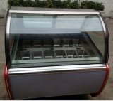 (Cestas Redondas Ice Cream Freezer Showcase com porta dupla