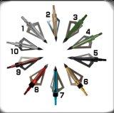 Фикчированное 3 лезвие алюминиевое Broadheads для Crossbows