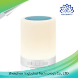 Altofalante sem fio portátil de Bluetooth da lâmpada da luz do sensor do toque mini com luz do diodo emissor de luz