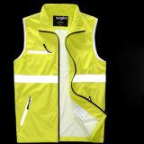 高い反射テープ安全摩耗の黄色の働き衣類の安全ベスト