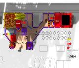 Спортивная площадка цирка занятности Cheer опирающийся на определённую тему крытая