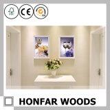 Cornice di legno di stampa della tela di canapa per la decorazione della parete