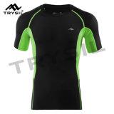 男性のスポーツシャツのTシャツのスポーツ・ウェアの体操の衣類