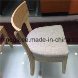 Mobiliário de sala de restaurante moderno Cadeira de jantar acolchoada de madeira (FOH-CXSC02)