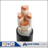PVC изоляции 0.6/1 Kv XLPE поднял силовой кабель домкратом 4*35+16 стального провода бронированный