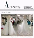 厚いレースが付いているAoliweiya 2017の花嫁衣装のウェディングドレス
