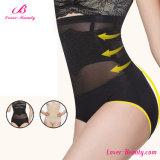 Alto levantador translúcido negro atractivo Panty del tope de la cintura