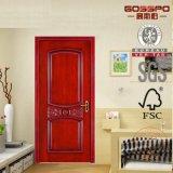 Porta de madeira do quarto/de madeira contínua interior feita sob encomenda cinzelada ofício (GSP2-039)