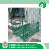Kundenspezifischer zusammenklappbarer Maschendraht-Behälter für Lager durch Forkfit