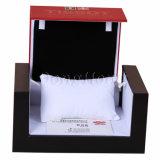 Legno di cuoio nero su ordinazione del contenitore di regalo della vigilanza di modo Handmade