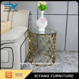 居間の家具のコーヒーテーブルの金属表の側面表