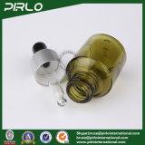 frasco verde-oliva do conta-gotas do vidro verde de 15ml 0.5oz com anel do metal