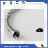 Mangueira trançada flexível resistente de alta pressão do metal do aço inoxidável de água quente