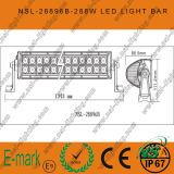 4X4 6X6를 모는 도로 떨어져를 위한 도로 표시등 막대 50 인치 288W 크리 말 떨어져 LED