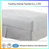 Couverture de matelas lavable à deux lignes de machine à coudre dans le blanc