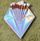 Cepillo del maquillaje del unicornio de 10 PCS con el bolso de la cremallera
