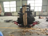 A madeira da máquina escavadora do acessório do carregador do boi do patim luta a tesoura da árvore