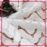 Vestido de nylon do algodão que faz a tela do laço do estiramento