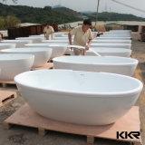 Baquet autonome ovale de Bath d'articles de pierre sanitaire de résine