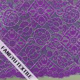 Tessuto complicato del merletto del cotone di disegno del reticolo