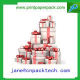 OEM het Verpakkende Kosmetische Vakje van het Vakje van de Gift van het Document van het Lint van het Vakje
