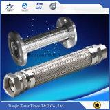Edelstahl 304/316 gewölbter flexibles Metalschlauch mit Flansch