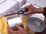 Bande souterraine de clignotement d'enveloppe de pipe d'anticorrosion d'aluminium, PE enveloppant la bande adhésive de conduit, bande butylique de polyéthylène