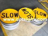 Optraffic OEM Contrôle de trafic extérieur portable Travaux de construction Signaux de balançoire de sécurité du site de travail, support oscillant, panneaux à bord